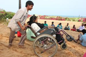At Auroville beach
