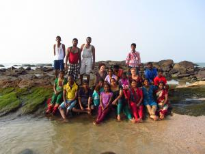 At Kanyakumari beach