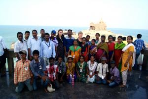 Near the Vivekananda monument at Kanyakumari