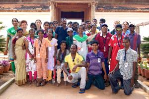 With the older students at Kanyakumari