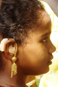 her first digital hearing aid