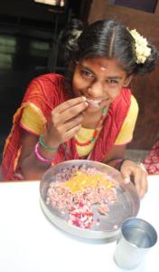 Nandini is in our day care group. Here she is having lunch with us (1)